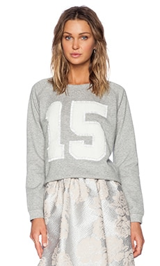 Essentiel Number Sweatshirt Melange in Grey