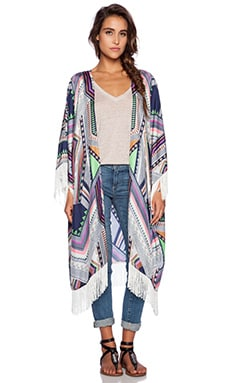 Essentiel Electric Eel Kimono in Multi