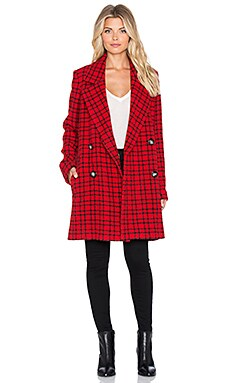 Essentiel Kishanfla Coat in Red Plaid