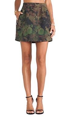 Essentiel Hedonic Bond Girl Skirt in Flower Camo