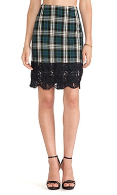 Essentiel Hister Skirt in Tartan Blue