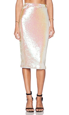 Essentiel Atlantis Rising Skirt in Pink Sequin