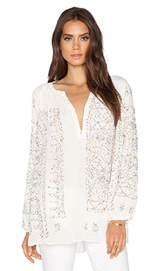 Essentiel Milky Way Embellished Top in White