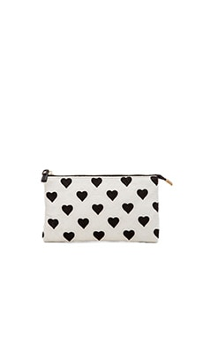 Essentiel Antwerp Antwerp Kadeem Clutch in White & Black