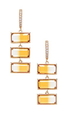 X REVOLVE Rectangle Drop Earrings Elizabeth Stone $112