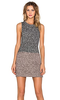 Eternal Sunshine Creations Tweed Tweggy Mini Dress in Black Sesame