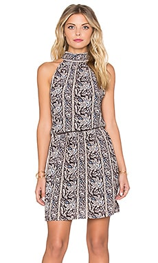 Sunset Meadow Halter Dress in Night Owl