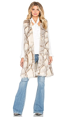 Eternal Sunshine Creations Edee Marble Faux Fur Vest in Baby Fox