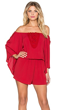 Eternal Sunshine Creations Rosemary Romper in Crimson