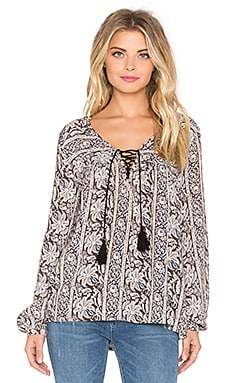 Sunset Meadow Blouse in Night Owl