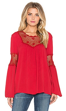 Eternal Sunshine Creations Rosemary Romantic Blouse in Crimson