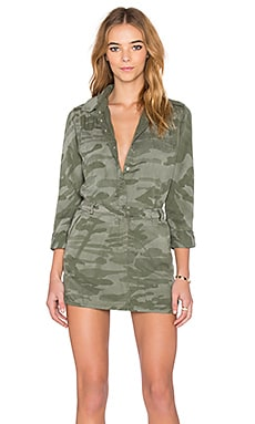 Etienne Marcel Long Sleeve Dress in Camo