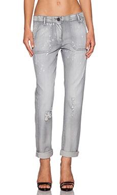 Etienne Marcel Midrise Boyfriend Jeans in Grey