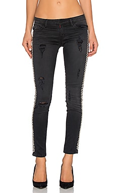 Studded Skinny in Black