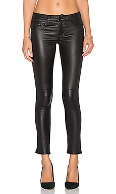 Etienne Marcel Leather Front Skinny in Black
