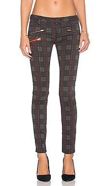 Etienne Marcel Zip Moto Skinny in Plaid