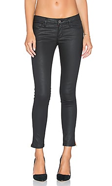 Etienne Marcel Zipper Skinny in Coated Black