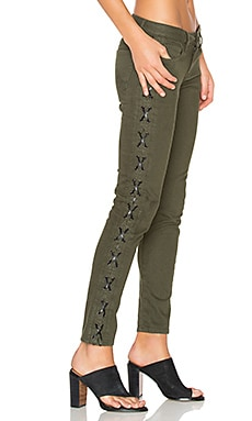 Etienne Marcel Lace Up Skinny in Military