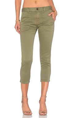 Etienne Marcel Cropped Boyfriend Pants in Khaki