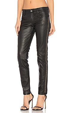 Leather Studded Skinny