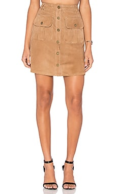 Etienne Marcel Button Up Skirt in Daim Beige