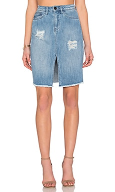 Etienne Marcel Distressed Pencil Skirt in Supreme