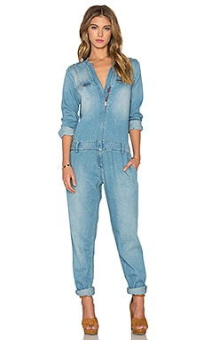 Etienne Marcel Long Sleeve Jumpsuit in Bleach