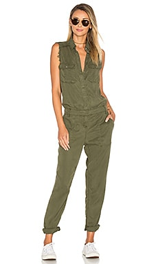 Sleeveless Jumpsuit in Military
