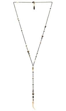 Ettika Charm Lariat Necklace in Brass