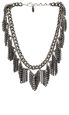 Ettika Fringe Bib Necklace in Silver