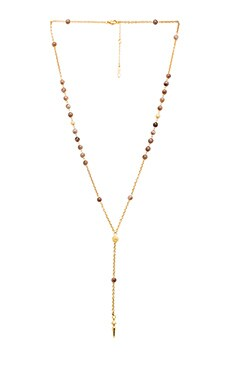 Ettika Rosary in Gold & Grey