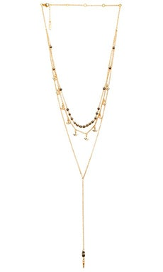 Ettika Layered Charm and Bead Necklace in Gold
