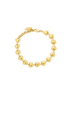 Ettika Heart Tennis Bracelet in Gold