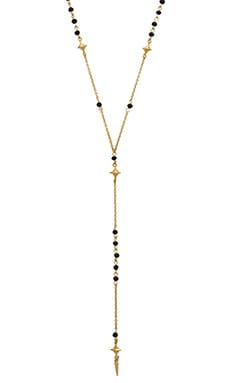 Ettika North Star Beaded Necklace in Black & Gold