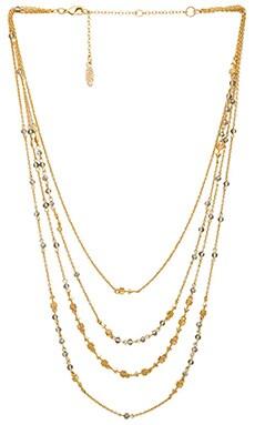 Ettika Arrow Necklace in Silver & Gold