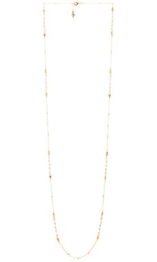 Ettika Hamsa Necklace in Silver & Gold