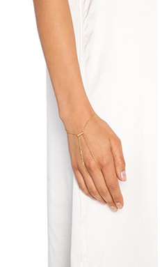 Ettika Pave Bar Handchain in Gold