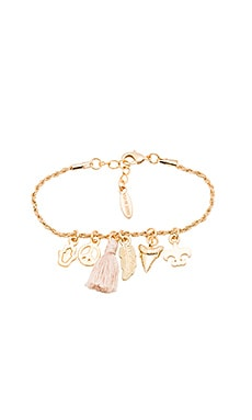 Ettika Charm Bracelet in Gold & Cream