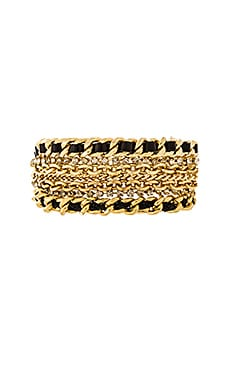 Ettika Multi Chain Bracelet in Gold & Black
