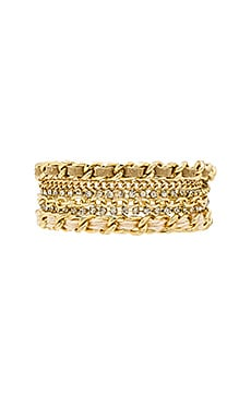 Ettika Raised Bar Bracelet in Gold & Gold