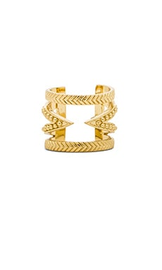 Ettika Cut Out Bar Ring in Gold