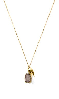 Ettika Necklace in Cream & Gold