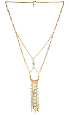 Ettika Dream Catcher Necklace in Gold & Turquoise