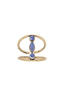 Ettika Ring in Brass & Opal