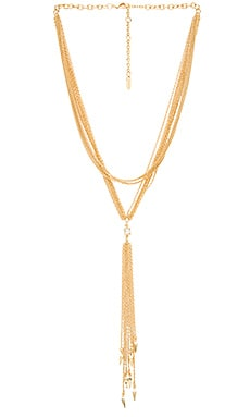 Ettika Lariat Layered Spike Necklace in Gold