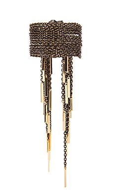 Ettika Chain Fringe Bracelet in Antique Brass & Gold