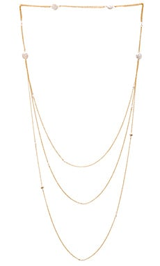 Ettika Pearl Layered Necklace in Gold