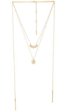 Ettika Layered Necklace in Gold & Opal