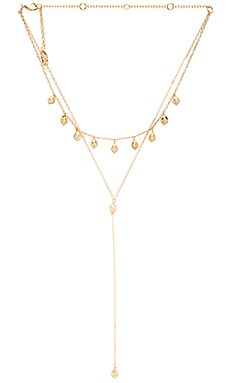Ettika Tear Drop Layered Y Necklace in Gold