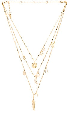Ettika Multi Charm Layered Necklace in Gold